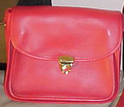Red Twistlock Handbag small