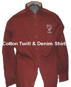 NCCU Cotton Twill Maroon Long Sleeve Shirt - Small