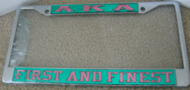 AKA_First_And_Finest_License_Frame
