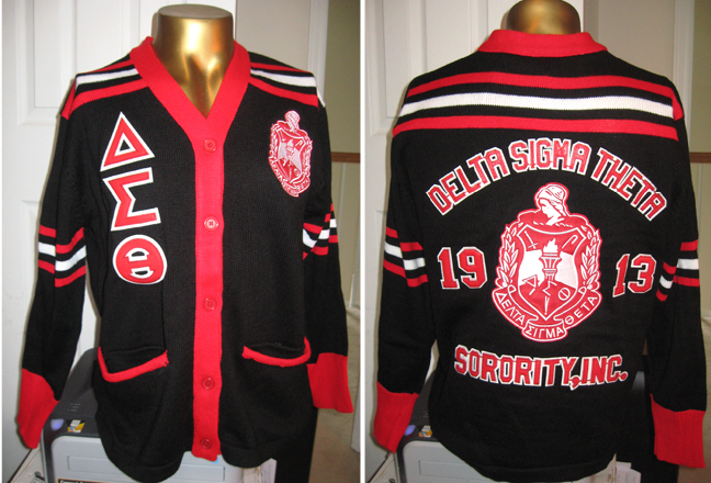 Delta Sigma Theta Sorority Cardigan Sweater Cardigan With Buttons
