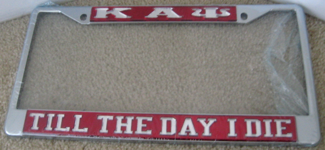 Kappa_Till_The_Day_I_Die_License_Frame