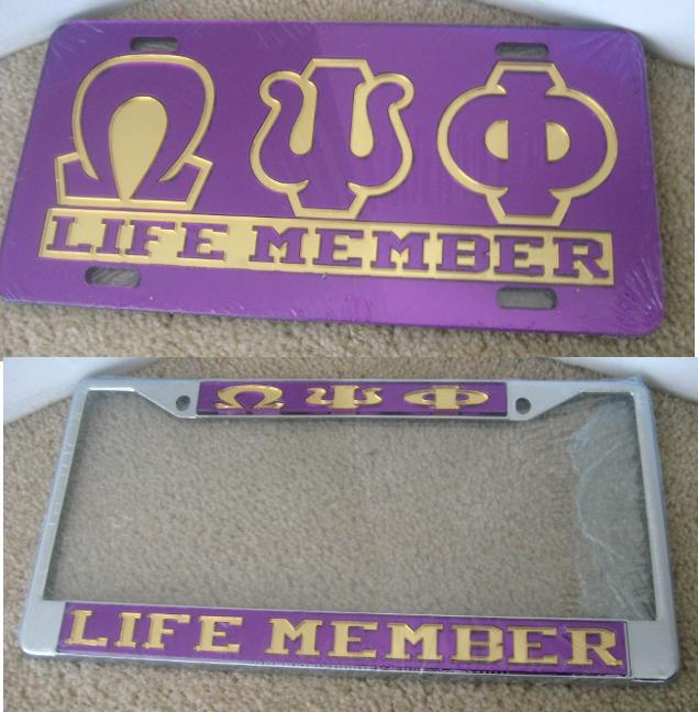 Omega_Life_Member_License_Frame_Plate_Combo
