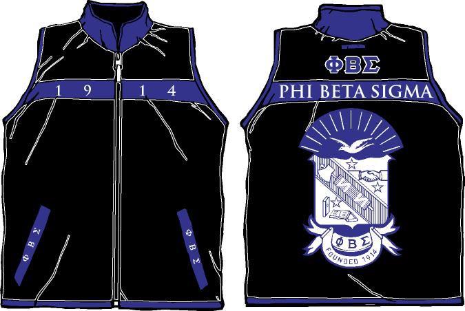 Phi Beta Sigma Reversible Fraternity Vest