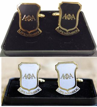 Alpha NEW Life Member cufflinks