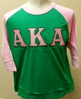 AKA Baseball Shirt Green with Pink Sleeves.jpg