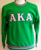 AKA Crew Neck Sweatshirt Green.jpg