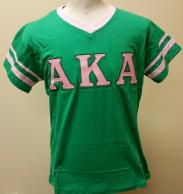 AKA T Shirt V Neck Green.jpg