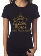 Golden soror shirt