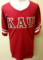 Kappa T Shirt V Neck Crimson.jpg