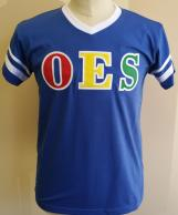 OES V Neck Striped Tee