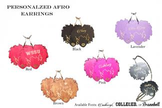 Personalized Afro Earrings copy